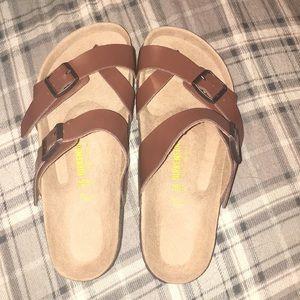 Never worn Birkenstock sandals